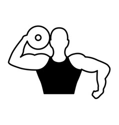 strong man human figure vector image