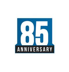 85th anniversary icon birthday logo vector