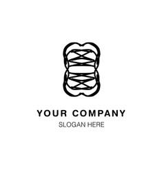 Abstract company logo design line art vector