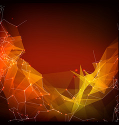 Abstract red mesh background vector
