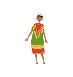 Aztec girl in traditional clothes native american vector
