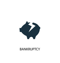 Bankruptcy icon simple element vector