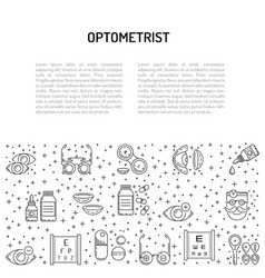 banner outline style the subject of ophthalmology vector image