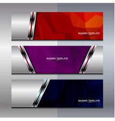 banner polygon background design vector image