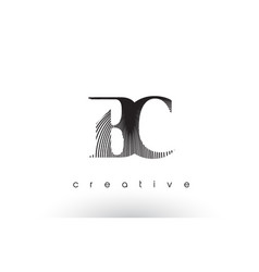 bc logo design with multiple lines and black and vector image