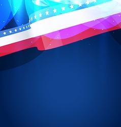beautiful american flag vector image