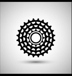 bicycle cassette bicycle accessories icon vector image