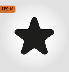 black star - icon star icon star vector image