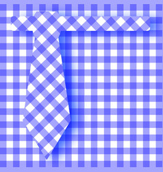 Blue gingham farhers day background vector