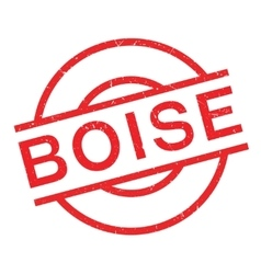 Boise rubber stamp vector image