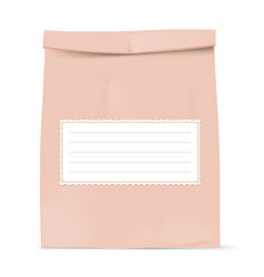 brown paper bag with recipe paper vector image