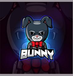 Bunny mascot esport logo design vector