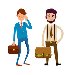 businesspeople going to make bargain bosses vector image