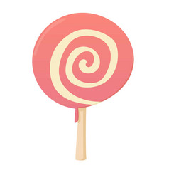 Candy icon cartoon style vector