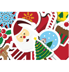 christmas objects with copy space background vector image