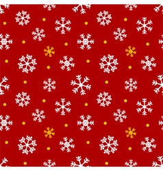 Christmas winter seamless pattern with snowflakes vector image