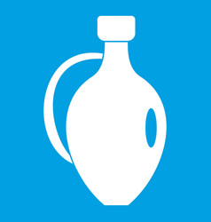 Clay jug icon white vector