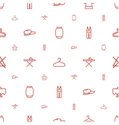 Cloth icons pattern seamless white background vector