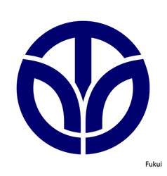 Coat arms fukui is a japan prefecture emblem vector