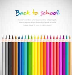 Color Pencils on white background vector