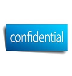 Confidential blue paper sign isolated on white vector