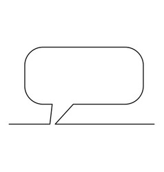 continuous one line dialogue cloud vector image