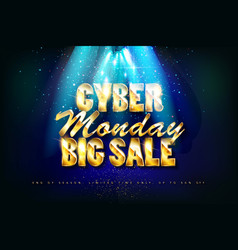 cyber monday sale promotion banne vector image