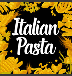 delicious italian pasta of best quality vector image