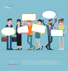 Diverse people opinion template vector