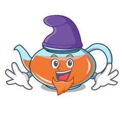 Elf transparent teapot character cartoon vector