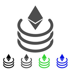 Ethereum portal icon vector
