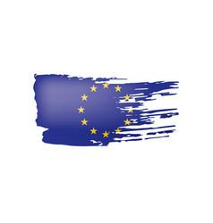 european union flag on a vector image