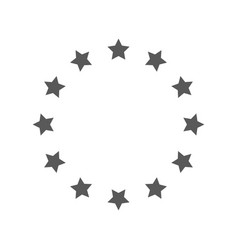 european union icon simple vector image