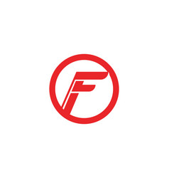 F logo and symbols template icons vector