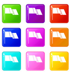 flag set 9 vector image
