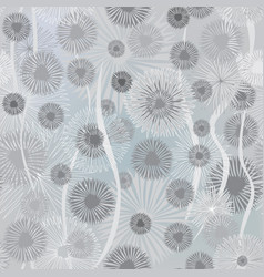 Floral blur pattern winter snow monochrome nature vector