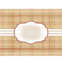 Frame on the checkered background vector