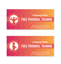 free personal training gift vouchers vector image