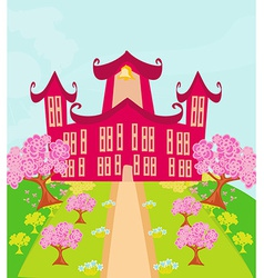 funny school building vector image