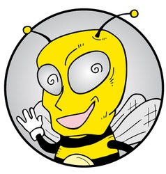 funny wasp icon vector image