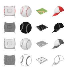 game basketball net and other web icon in vector image