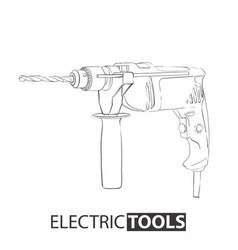 Hand drawn drill vector