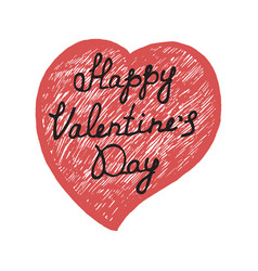Hand drawn valentines day poster vector
