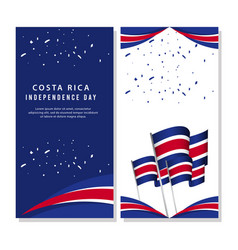 Happy costa rica independence day poster template vector