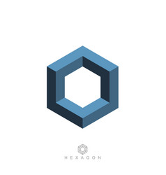 hexagon symbol vector image