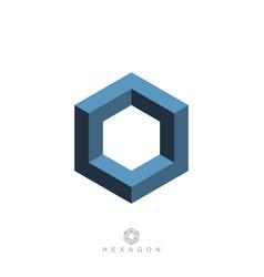 Hexagon symbol vector