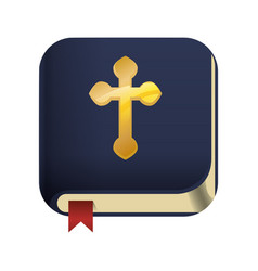holy bible christianity symbol vector image