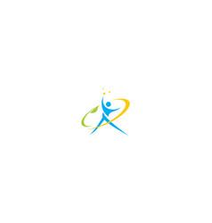 human health success logo icon vector image