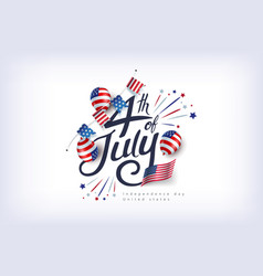 independence day usa banner template american vector image