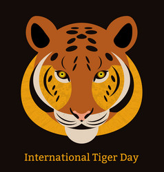 international tiger day july 29 wild mammal is an vector image